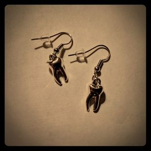 Brand new tiny tooth dangle earrings 🦷
